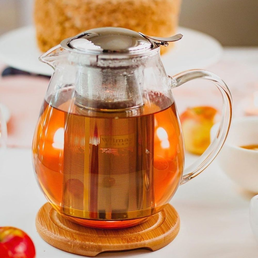 [A] Thermo Glass Tea Pot 20 Fl Oz | 600 Ml WL-888801/A