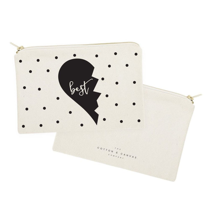 Best Friends Cotton Canvas Cosmetic Bag, 2-Pack