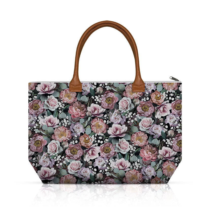 Shopping Bag - Vintage Flowers black