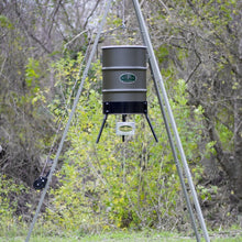Load image into Gallery viewer, SpinTech 55 Gallon Hanging 12 Volt Digital Feeder with Winch 2