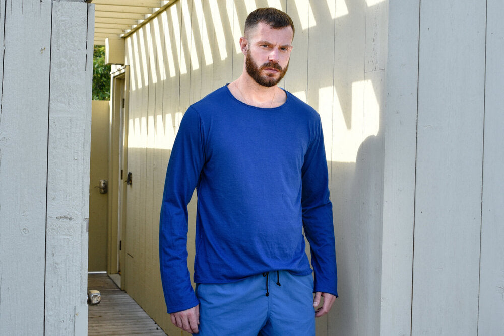 Long Sleeve Blue Tee