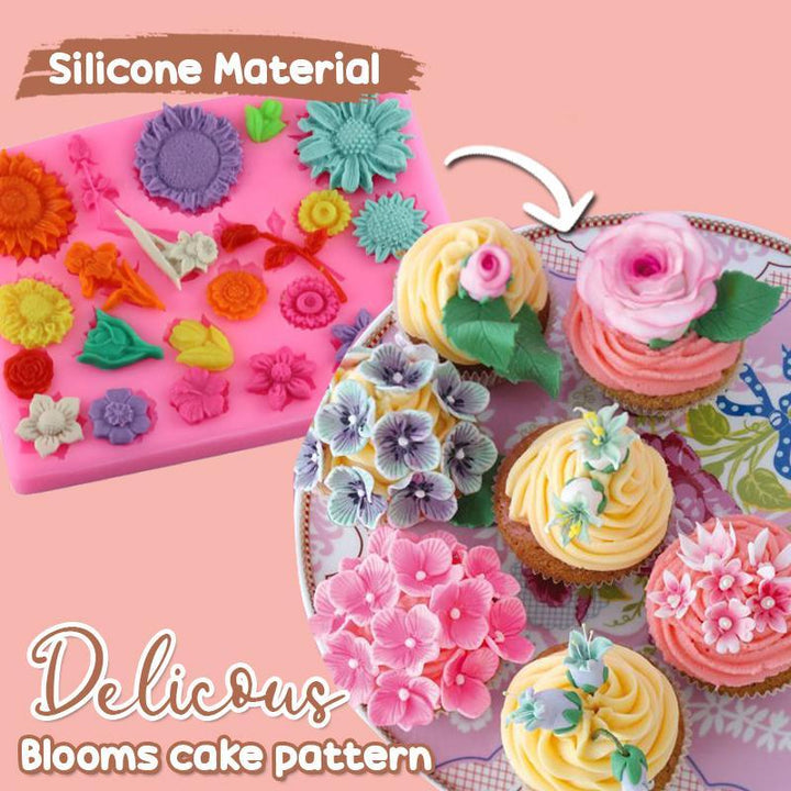 Silicone Flower Cake Mold Border