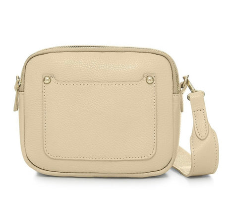 Zara Leather Cross body Bag - Cream