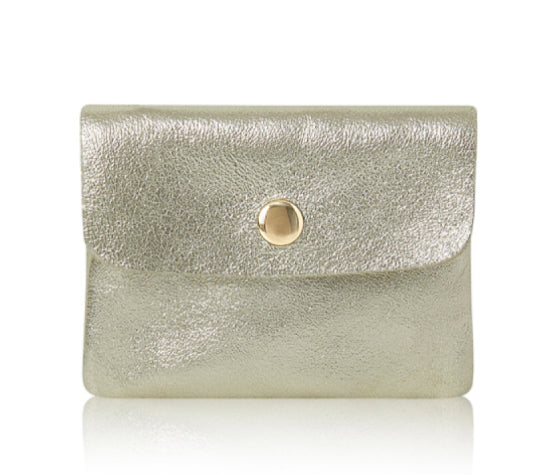 Small Leather Purse - Gold