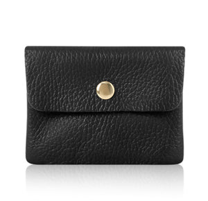 Small Leather Purse - Black