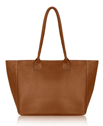 Leather Tote - Tan