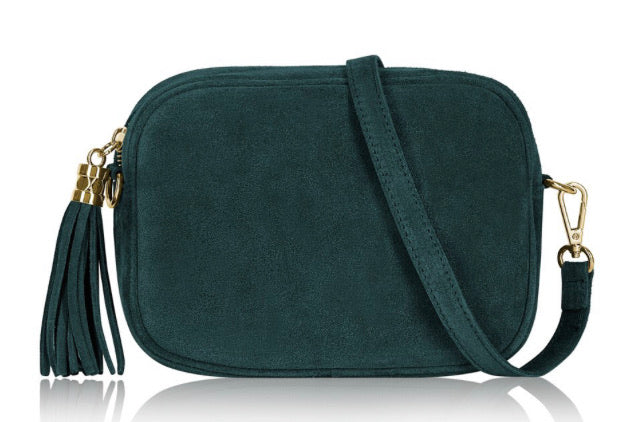 Suede Lila Cross Body Bag -  Teal
