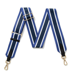Multi Stripe Bag Strap - Blue
