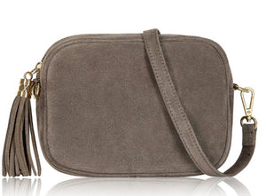 Suede Lila Cross Body Bag -  Taupe