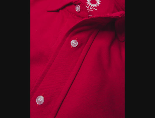 Magnetic T-shirt, contains magnetic buttons for easy wear. Adaptive clothing by Dawn Adaptive.