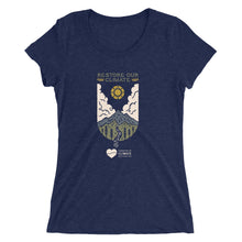 Load image into Gallery viewer, Restore Our Climate Ladies' T-shirt - Front Design
