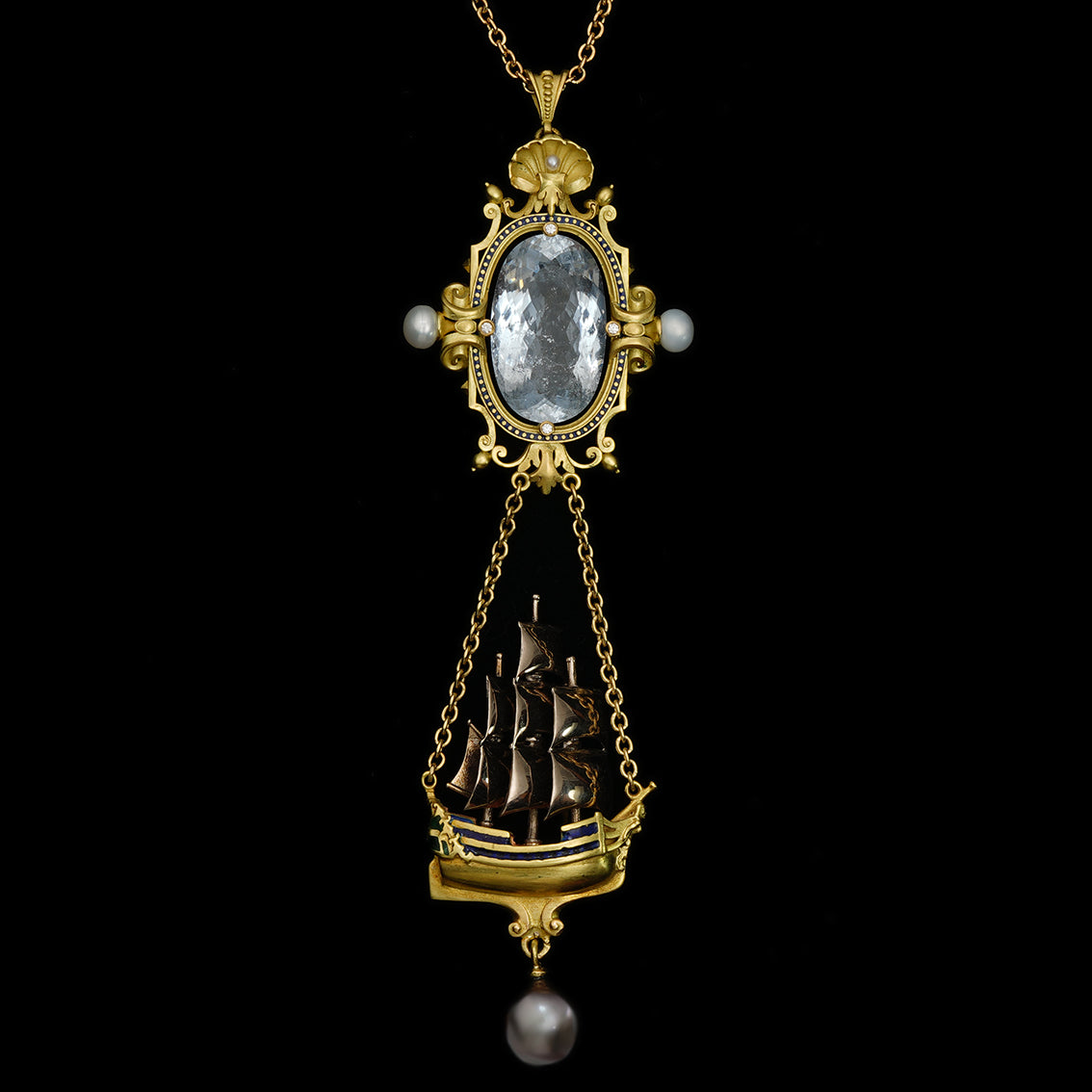 ARCHIMEDES' MIRROR PENDANT NECKLACE