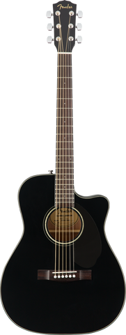 FENDER GUITAR CC-60SCE Concert, Black WN - PickersAlley