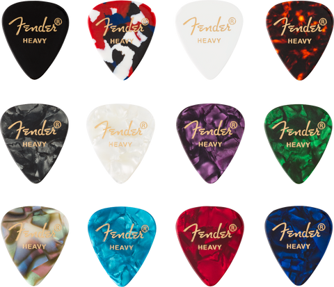 FENDER PICKS 351 CELLULOID MEDLEY (12) HVY - PickersAlley