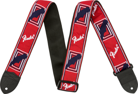 FENDER STRAP RED/WHITE/BLUE MONO STRAP - PickersAlley