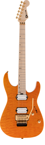 CHARVEL GUITAR PM DK24 HH FR - Dark Amber - PickersAlley