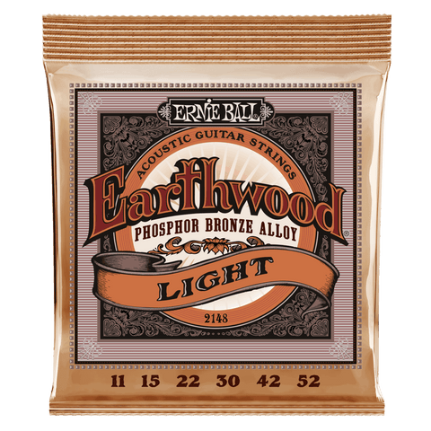 ERNIE BALL STRINGS Earthwood Phosphor Bronze 2148 .011-.052