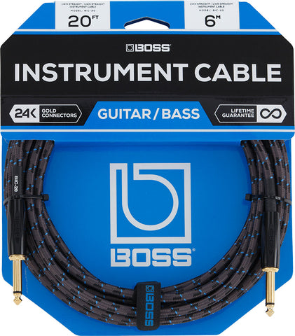 BOSS CABLE 20' Straight to Straight Patch Cable - PickersAlley
