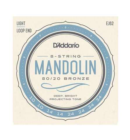 D'ADDARIO STRINGS EJ62 Mandolin Light 80/20 Bronze - PickersAlley