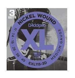 D'ADDARIO STRINGS ELX115-3D 3-Pack - PickersAlley
