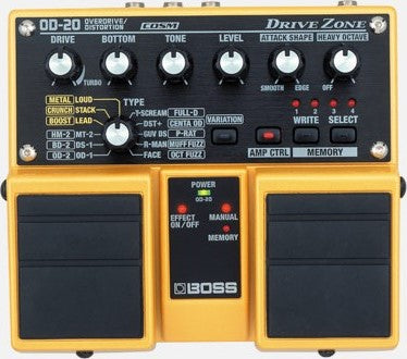 BOSS DUAL PEDAL OD-20 - PickersAlley