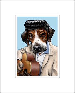Elvis Pupsley Music Pet Print
