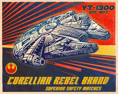 16 x 20 Corellian Rebel Brand Matches print