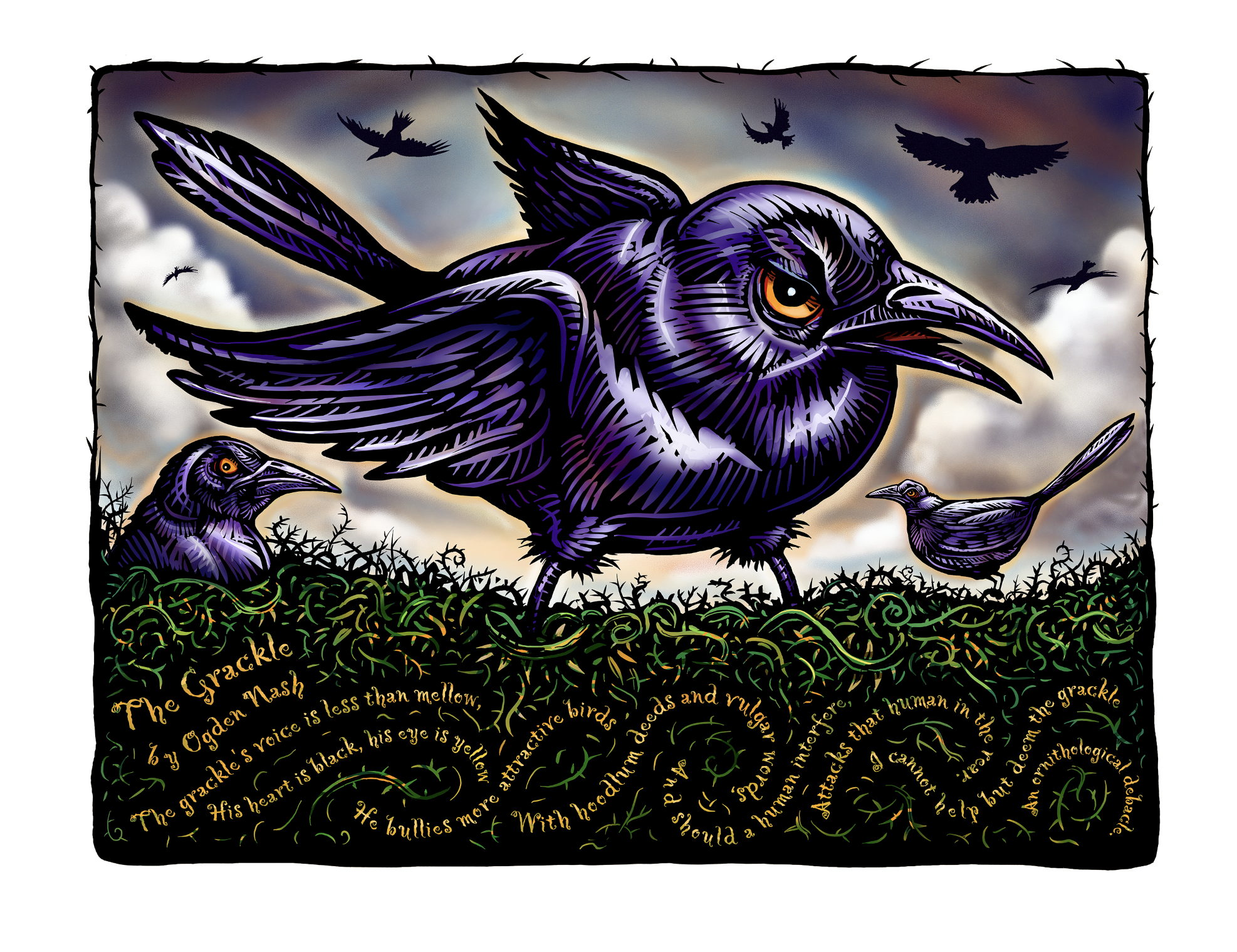 "The Grackle- 8 x 10"" print"