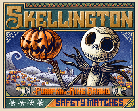 16 x 20 Pumpkin King Brand Matches print