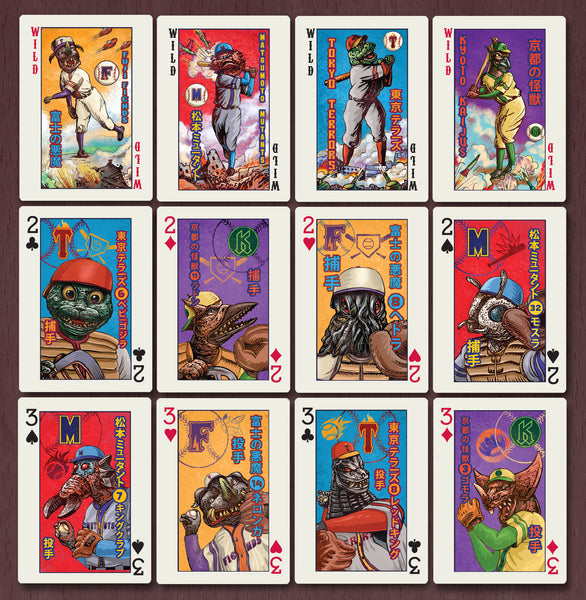 Kaiju Baseball Playing Cards with Limited Edition Box