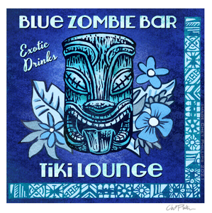 Blue Zombie Matchbook Art Print