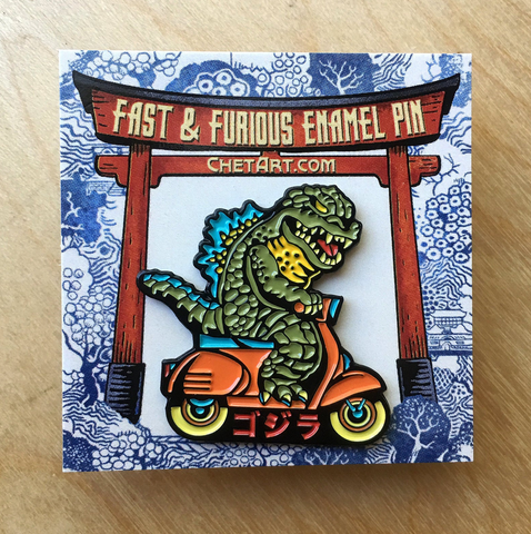 Fast and Furious enamel pin
