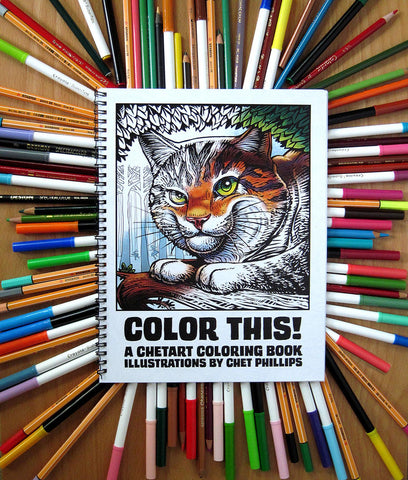 Color This! ChetArt Coloring Book