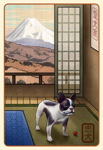 French Bulldog Japanese Styled Print