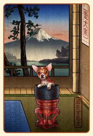 Chihuahua Japanese Styled Print