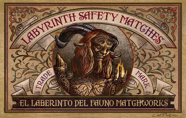 "Labyrinth Brand 5"" x 7"" matted Matchbox print"