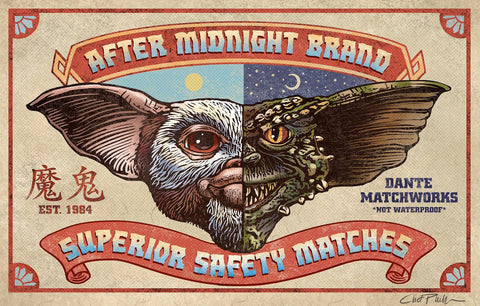 "After Midnight Brand 5"" x 7"" matted Matchbox print"