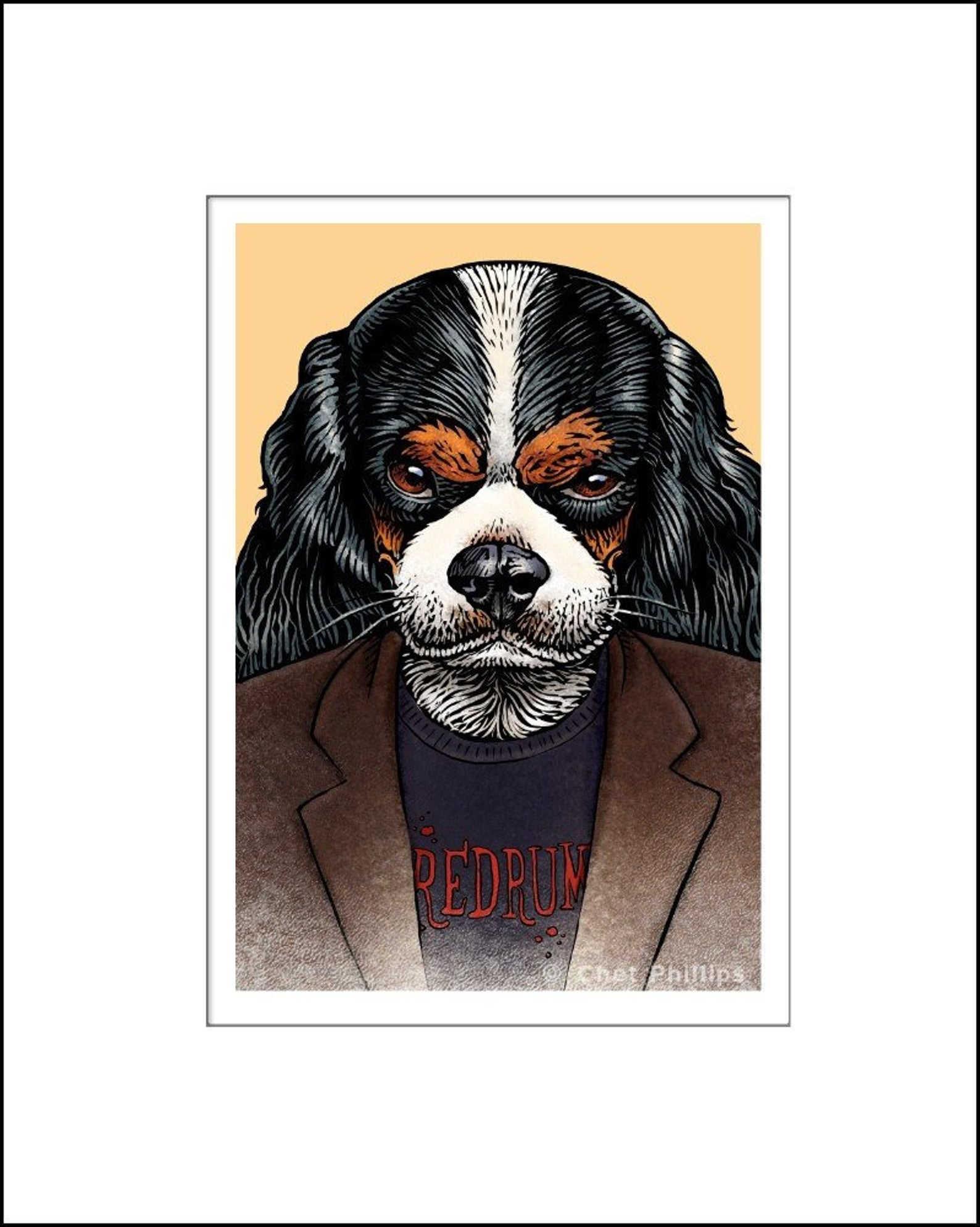 Stephen Literary Pet Print