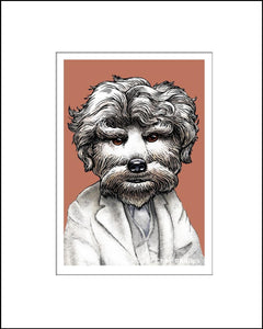 Bark Twain Literary Pet Print