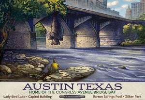 Austin- Fantasy Texas Travel Poster