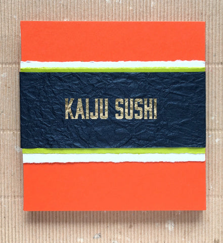 Kaiju Sushi Accordion Book-Limited Edition of 30