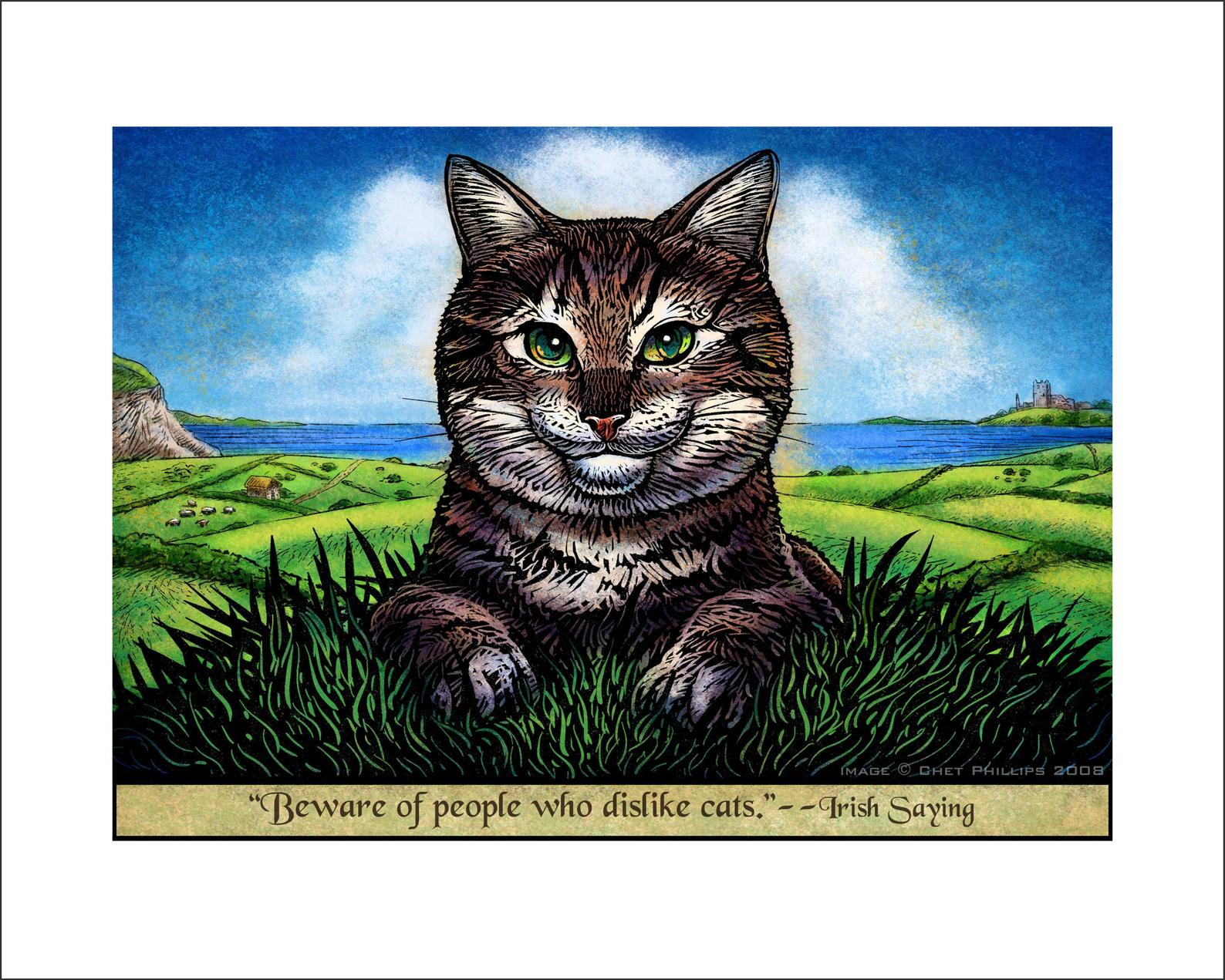 "Irish Cat- 8"" x 10"" print"