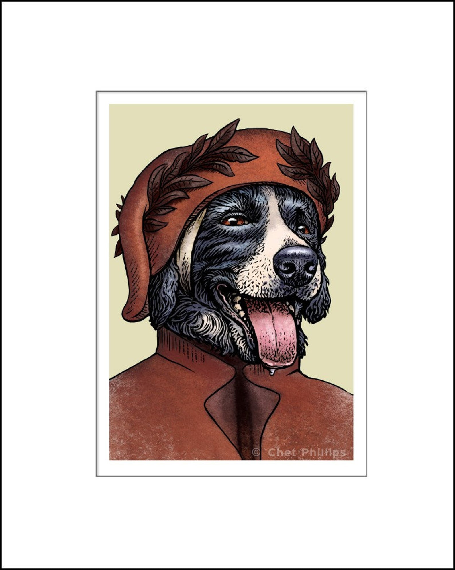 Dante Collieghieri Literary Pet Print