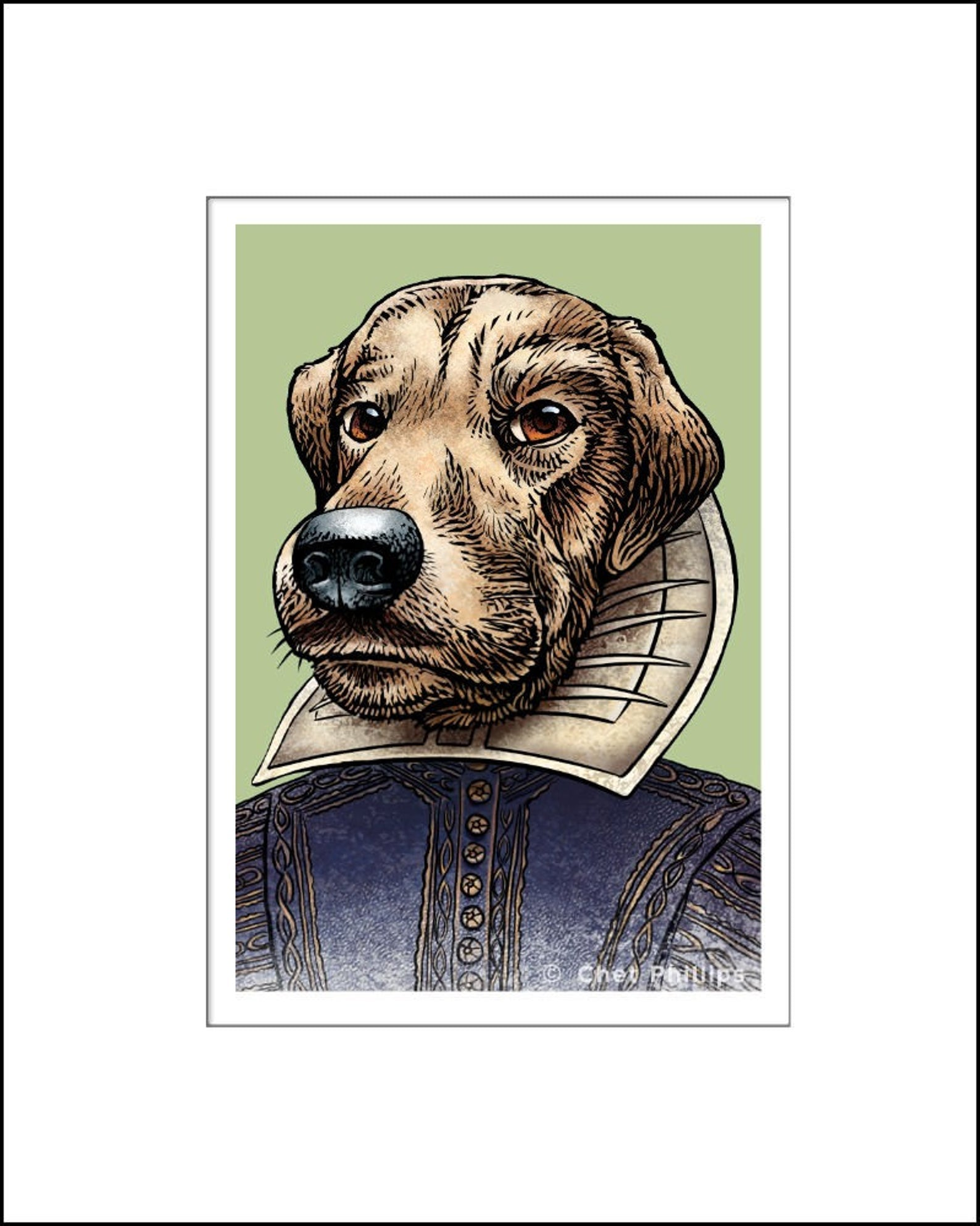 William Shakespaw Literary Pet Print