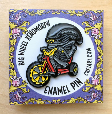 Xenomorph Big Wheel enamel pin