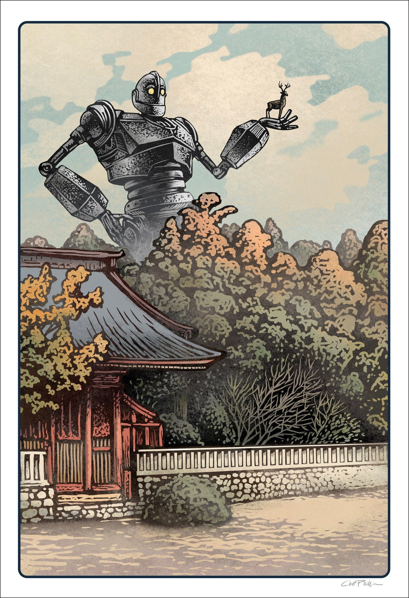 "Iron Giant Soul of the Machine print-13"" x 19"""