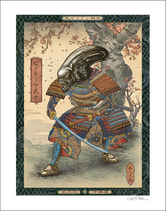 Alien Monster Samurai 11 x 14 print