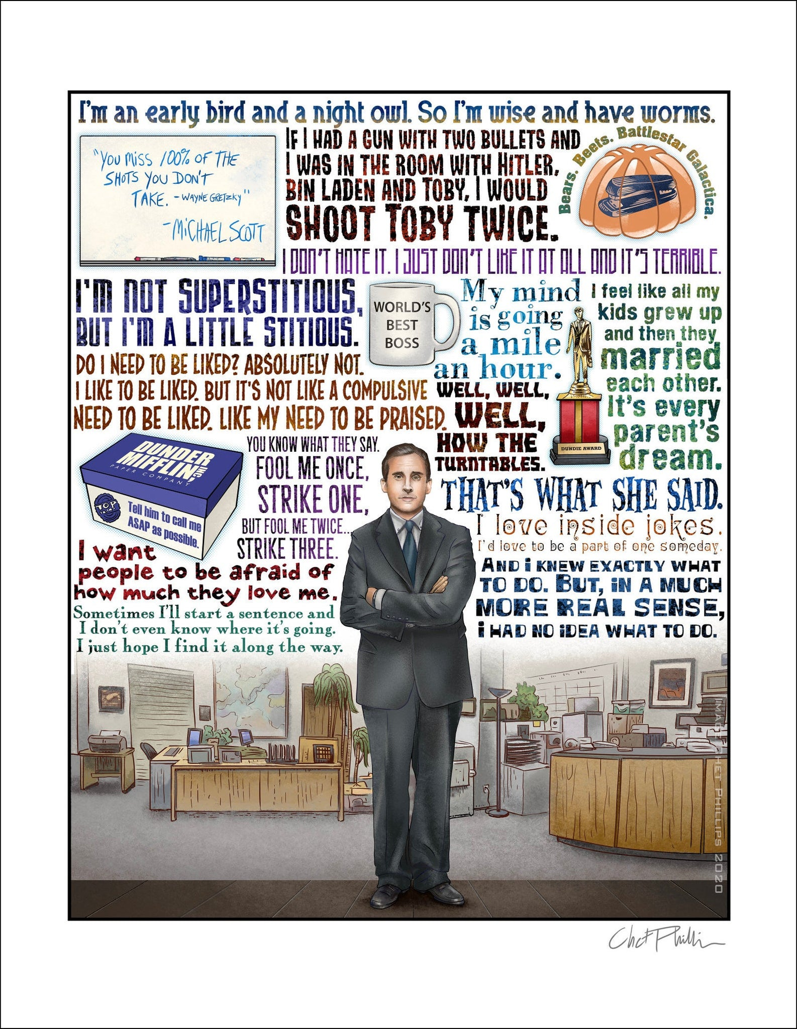 "The Office Tribute- 11"" x 14"" print"