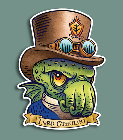 Lord Cthulhu vinyl sticker