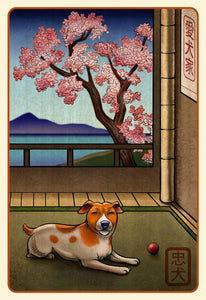 Jack Russell Terrier Japanese Styled Print